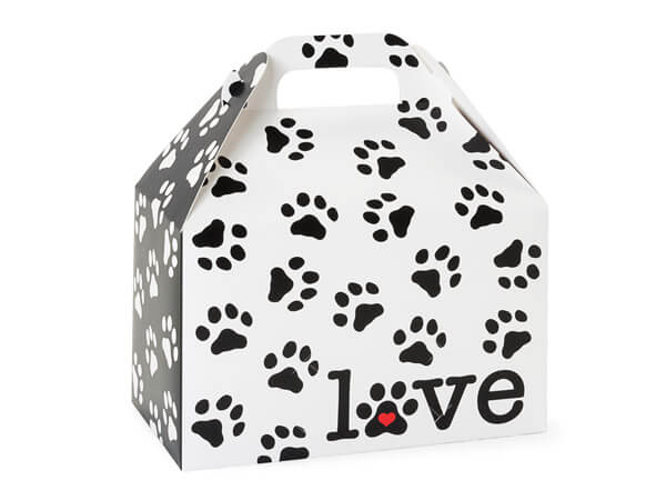 "Puppy Love Gable Boxes 8.5x5x5.5"", Pack 6"