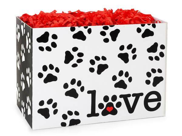 "Puppy Love Basket Box, Large 10.25x6x7.5"", 6 Pack"