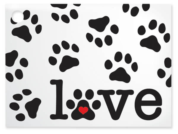 """Puppy Love Theme Gift Card, 3.75x2.75"""", 6 Pack"""