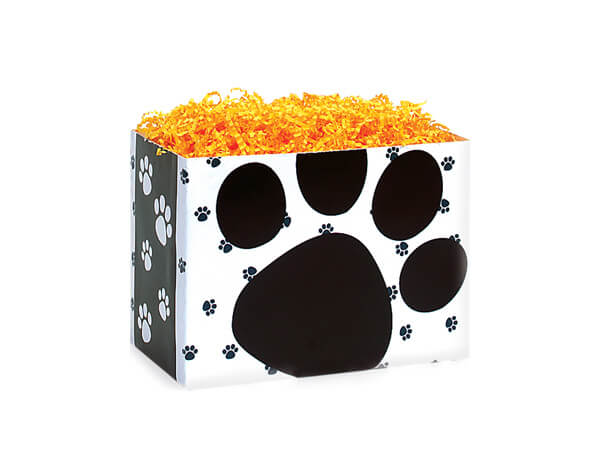"""Pooch's Paws Basket Box, Small 6.75x4x5"""", 6 Pack"""