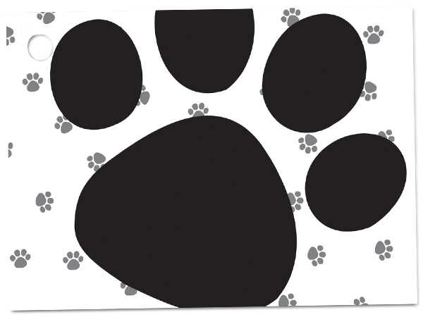 Pooch's Paws Theme Gift Cards 3-3/4x2-3/4""
