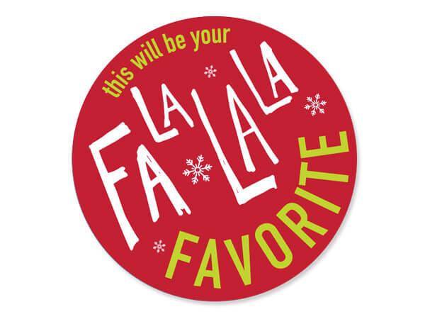 "FaLaLa Favorite Packaging Sticker, Round 2"", 500 pack"