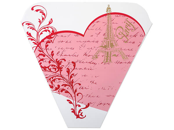 Love In Paris Bouquet Sleeves 4 x 18 x 17""