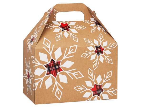 Plaid Snowflake Gable Boxes