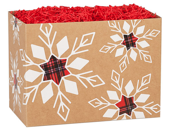 Plaid Snowflake Basket Boxes