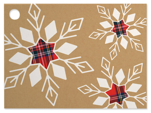 Plaid Snowflake Gift Card