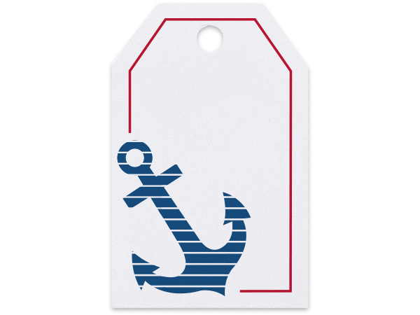 Anchor Printed Gift Tags 2-1/4x3-1/2""