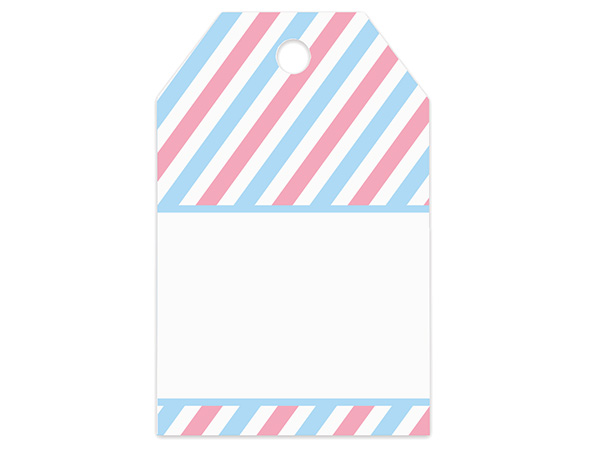 *Baby Stripes Printed Gift Tags 2-1/4x3-1/2""