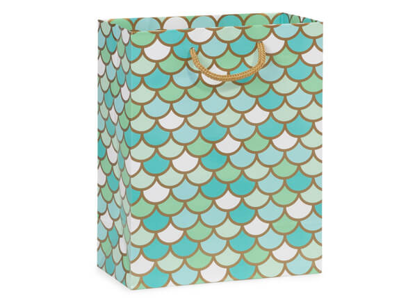 "Mermaid Paradise Gloss Gift Bags, Cub 8x4x10"", 100 Pack"