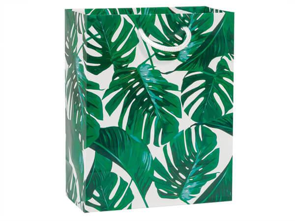 "*Tropical Palm Gift Bags, Cub 8x4x10"", 100 Pack"