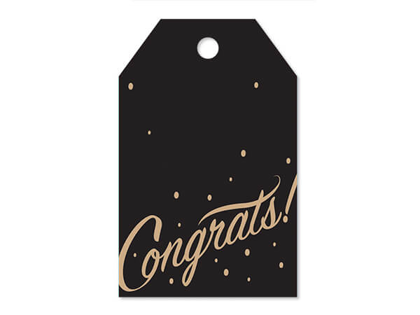 """Congrats Printed Gift Tags 2-1/4x3-1/2"""", 50 Pack"""