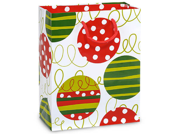 "Celebration Ornaments Gloss Gift Bags, Cub 8x4x10"", 10 Pack"