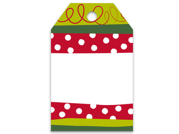 Jolly Christmas Stripe Gift Tags 2-1/4x3-1/2""