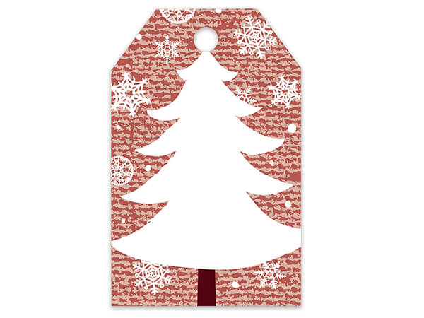 Christmas Tree Printed Gift Tags 2-1/4x3-1/2""