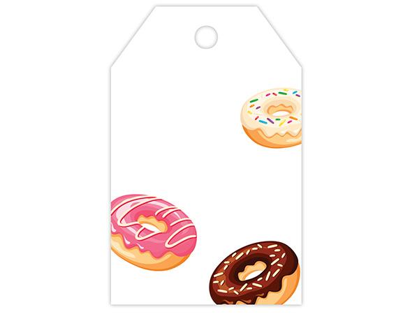 "Donuts Printed Gift Tags 2-1/4x3-1/2"""