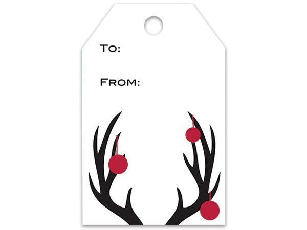 Deer Antlers Gift Tags