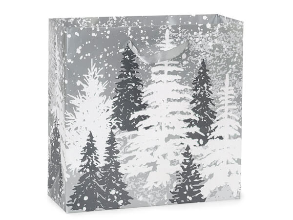 "Frosted Forest Gloss Gift Bags, Filly 12x5x12"", 100 Pack"