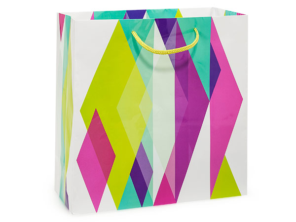 """Kaleidoscope Gloss Gift Bags, Filly 12x5x12"""", 100 Pack"""