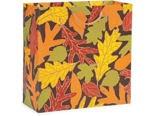 "Autumn Leaves Matte Gift Bags, Filly 12x5x12"", 10 Pack"