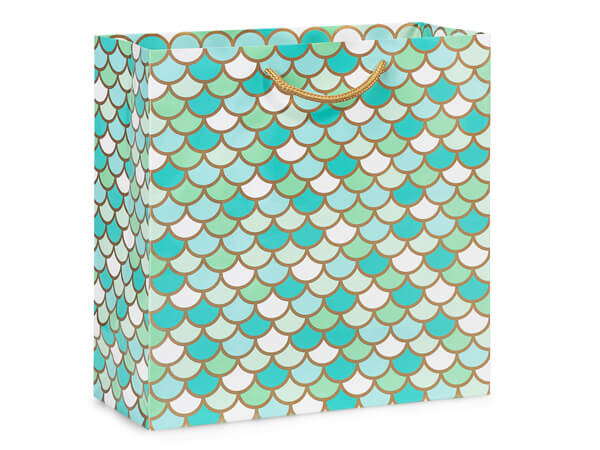 """Mermaid Paradise Gloss Gift Bags, Filly 12x5x12"""", 10 Pack"""