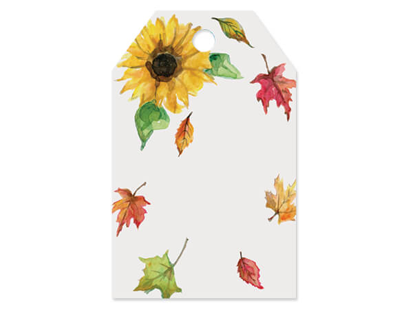 """Fall Sunflower Printed Gift Tags 2-1/4x3-1/2"""", 50 Pack"""