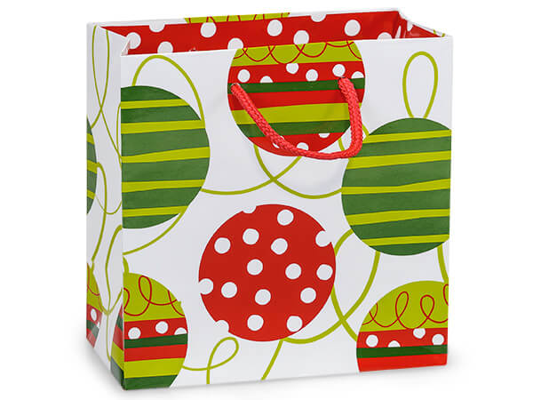 "*Celebration Ornaments Gloss Gift Bags, Jewel 6.5x3.5x6.5"", 10 Pack"