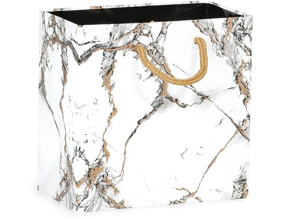 "Marble Gloss Gift Bags, Jewel 6.5x3.5x6.5"", 10 Pack"