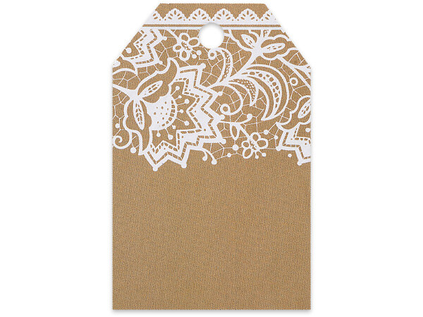 Lace Printed Gift Tags 2-1/4x3-1/2""