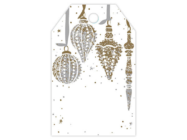 Mercury Glass Christmas Gloss Printed Gift Tags 2-1/4x3-1/2""