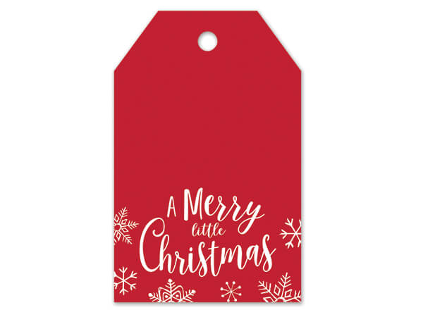 """Merry Little Christmas Matte Gift Tags, 2-1/4x3-1/2"""", 50 Pack"""