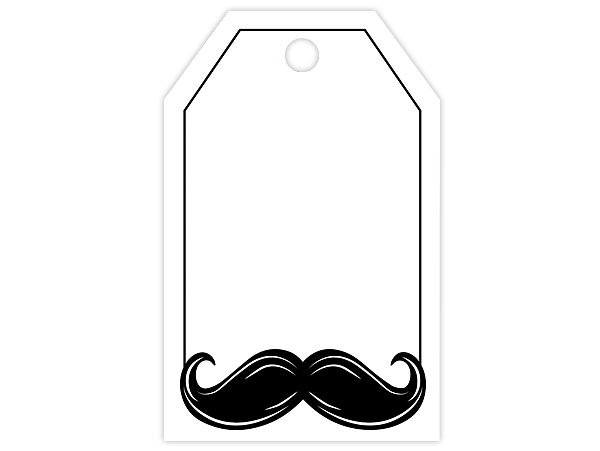 Mustache Gift Tags 2-1/4 x 3-1/2""
