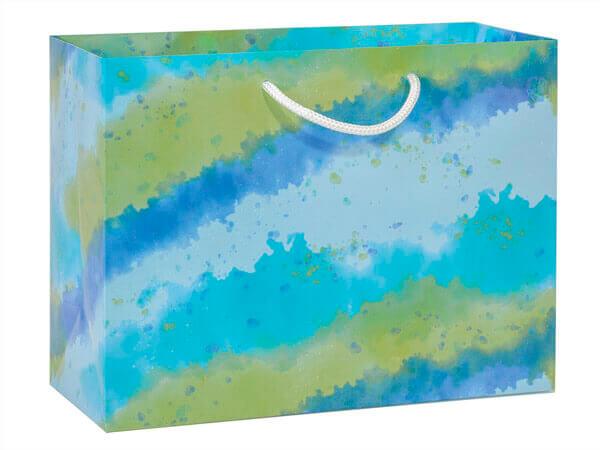 "*Ombre Splash Gloss Gift Bags, Mini Vogue 12x5x9"", 10 Pack"