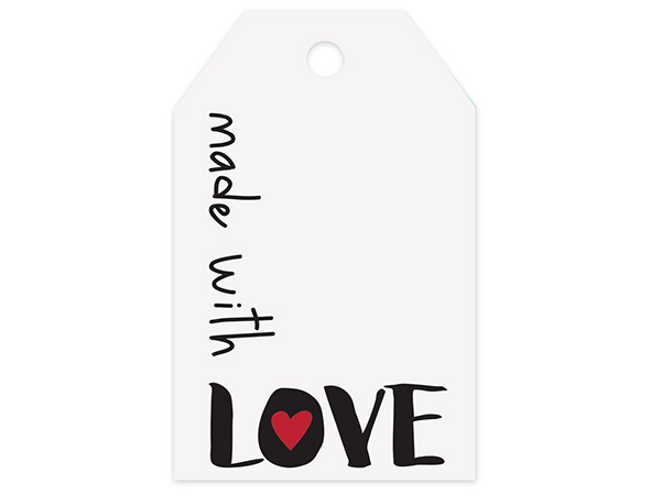 Made with Love Printed Gift Tags 2-1/4x3-1/2""