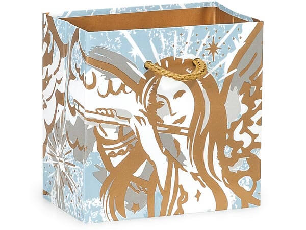 "*Musical Angels Gloss Gift Bags, Petite 4x2.5x4"", 100 Pack"