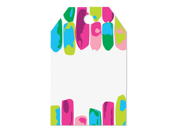 """Painted Gems Printed Gift Tags 2-1/4x3-1/2"""", 50 Pack"""