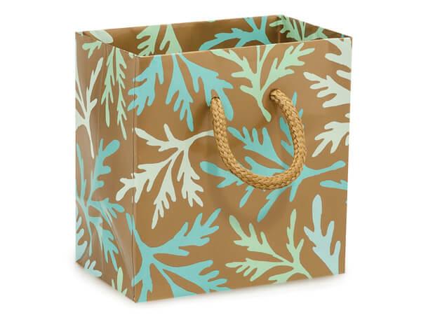 "*Coastal Paradise Gloss Gift Bags, Petite 4x2.5x4"", 10 Pack"