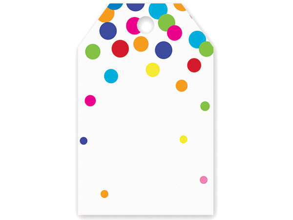 Rainbow Confetti Gift Tag