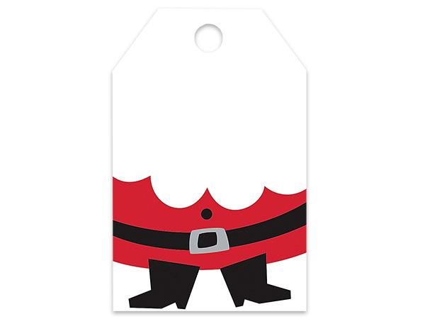 """Santa Printed Gift Tags 2-1/4x3-1/2"""""""