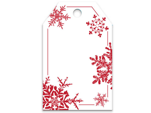 Red Snowflakes Gift Tag
