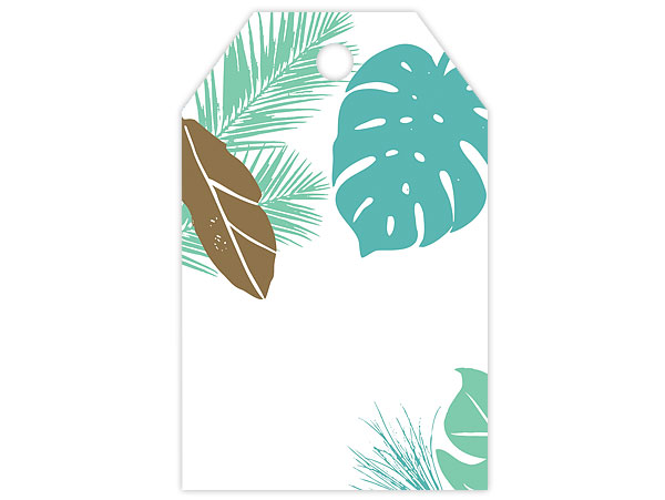 *Tropical Leaves Gloss Gift Tags 2-1/4 x 3-1/2""