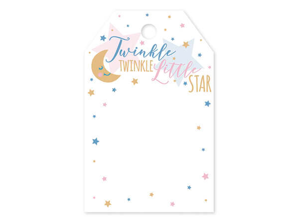 """Twinkle Star Printed Gift Tags 2-1/4x3-1/2"""", 50 Pack"""