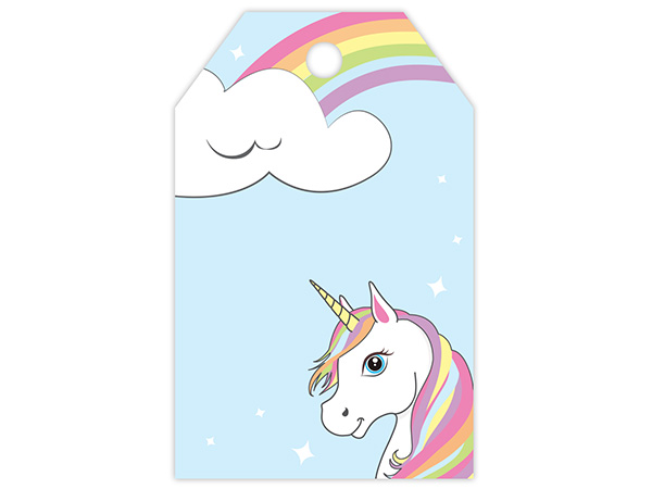 Unicorn and Rainbow Printed Gift Tags 2-1/4x3-1/2""