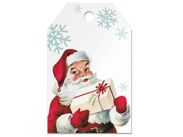 "Vintage Christmas Santa Gloss Gift Tags, 2-1/4x3-1/2"", 50 Pack"
