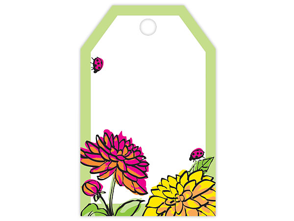 Vibrant Floral Gift Tag