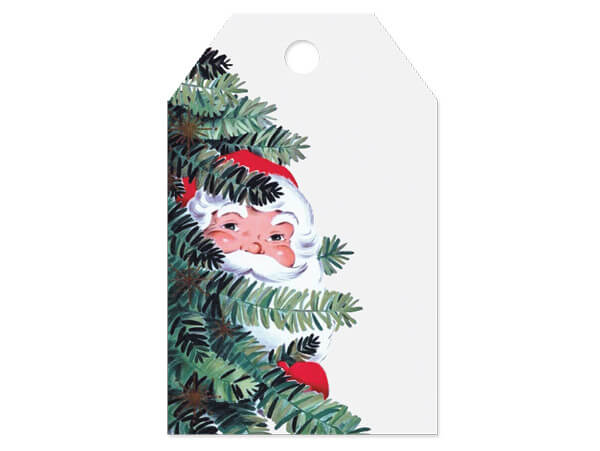 """Vintage Santa Printed Gift Tags 2-1/4x3-1/2"""", 50 Pack"""