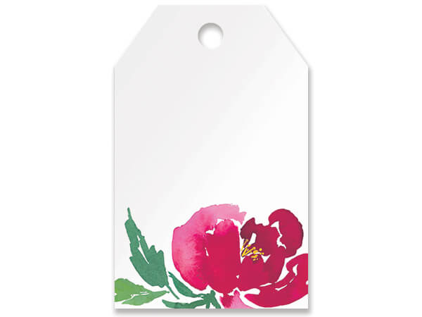 Watercolor Garden Blooms Gift Tag
