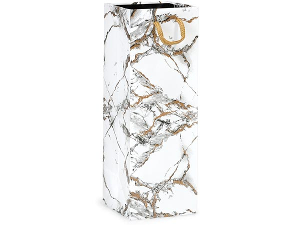 "Marble Gloss Gift Bags, Wine 4.5x4.5x13"", 10 Pack"