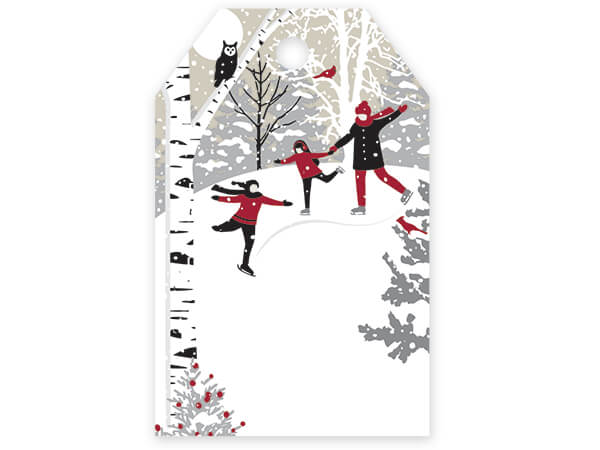 "Winter Snowday Gloss Gift Tags, 2-1/4x3-1/2"", 50 Pack"