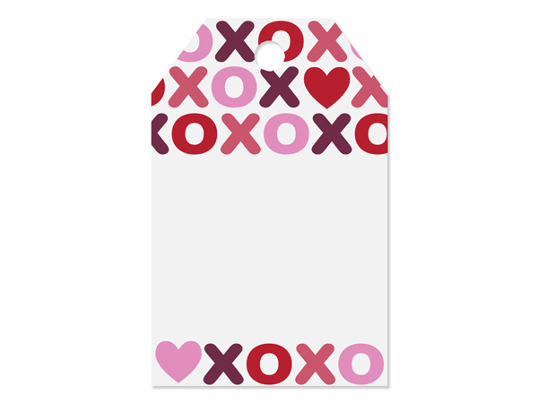 """XO Printed Gift Tags 2-1/4x3-1/2"""", 50 Pack"""