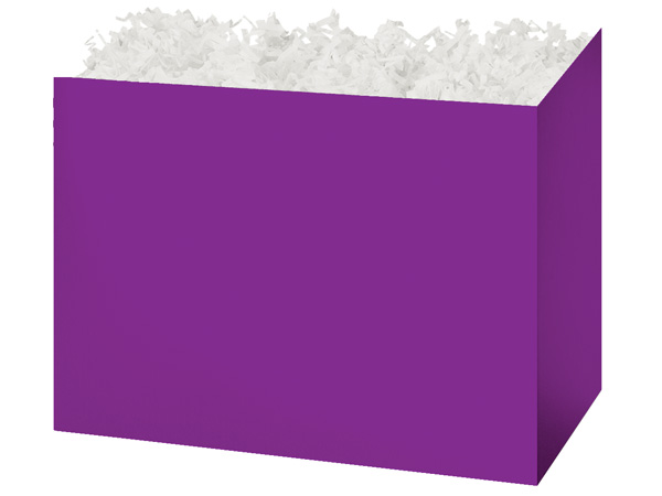 Large Solid Purple Basket Boxes 10-1/4x6x7-1/2""